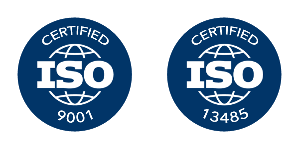 ISO 9001 and ISO 13485 Certified